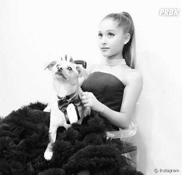 Nos bastidores do 2016 Time 100 Gala, Ariana Grande mostrou seu look incrível