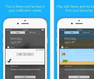 "Jogo ""Steve - The Jumping Dinosaur Widget Game"" está disponível para iOS"
