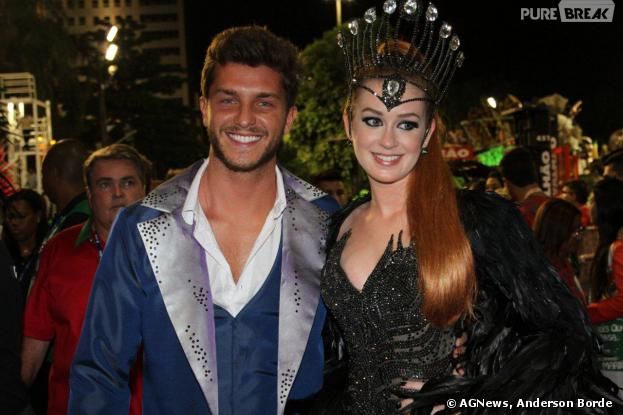 Marina Ruy Barbosa e Klebber Toledo arrasam no desfile da Grande Rio, na noite deste domingo de Carnaval, 2 de março de 2014