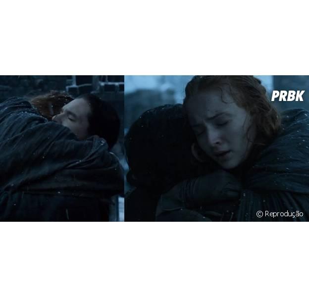 """Em """"Game of Thrones"""", Jon Snow (Kit Harington) e Sansa (Sophie Turner) se reencontram!"""