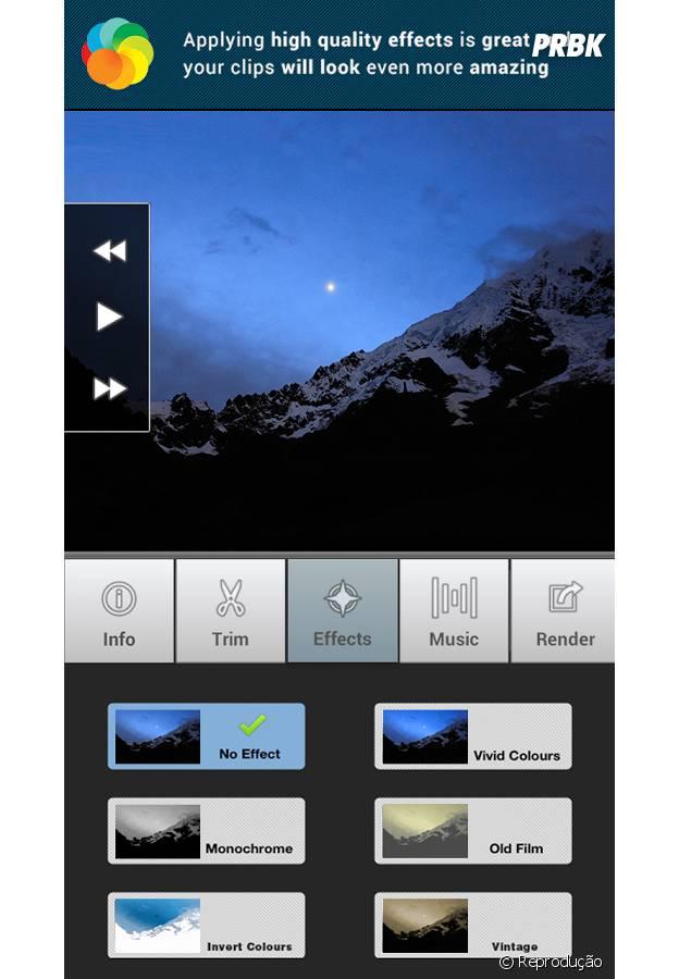 Lapse it é um aplicativo paga que permite acelera e diminuir a velocidade das imagens