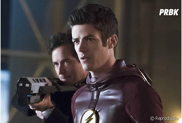 """Em """"The Flash"""", Barry (Grant Gustin) consegue derrotar Zoom após apostar corrida com o vilão"""