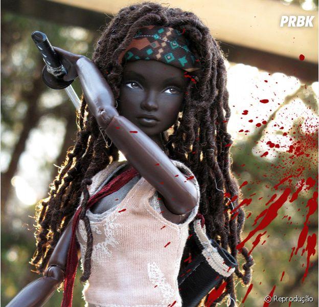"""Michonne (Danai Gurira), de """"The Walking Dead"""", ganha versão Barbie"""