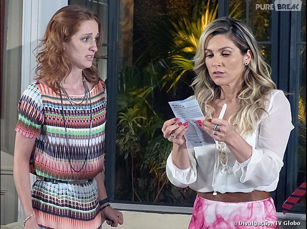 """Em """"Além do Horizonte"""", Pri (Laila Zaid) descobrirá junto com Heloísa (Flávia Alessandra) que está grávida"""