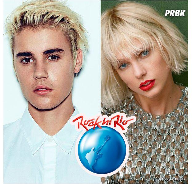 Justin Bieber e Taylor Swift estão na lista de artistas que podem participar do festival em 2017!