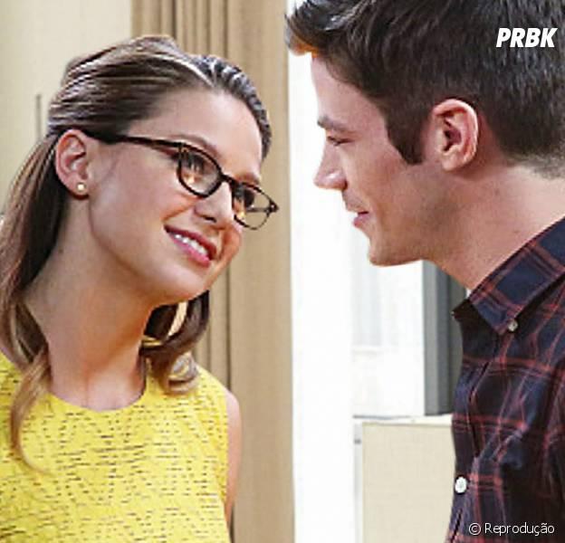"""Em """"The Flash"""" e """"Supergirl"""": fãs torcem por romance entre Barry (Grant Gustin) e Kara (Melissa Benoist) e atores comentam!"""