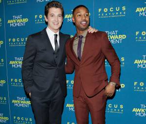 """Miles Teller e Michael B. Jordan em premiere de """"Namoro ou Liberdade"""" nos Estados Unidos"""