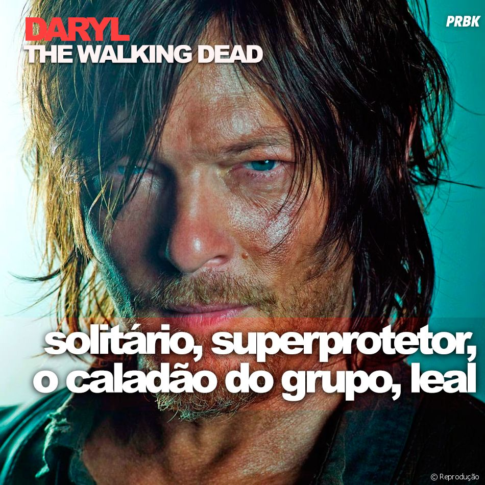 """De """"The Walking Dead"""": Daryl (Norman Reedus) pode até parecer mal encarado, mas no fundo é uma ótima pessoa"""