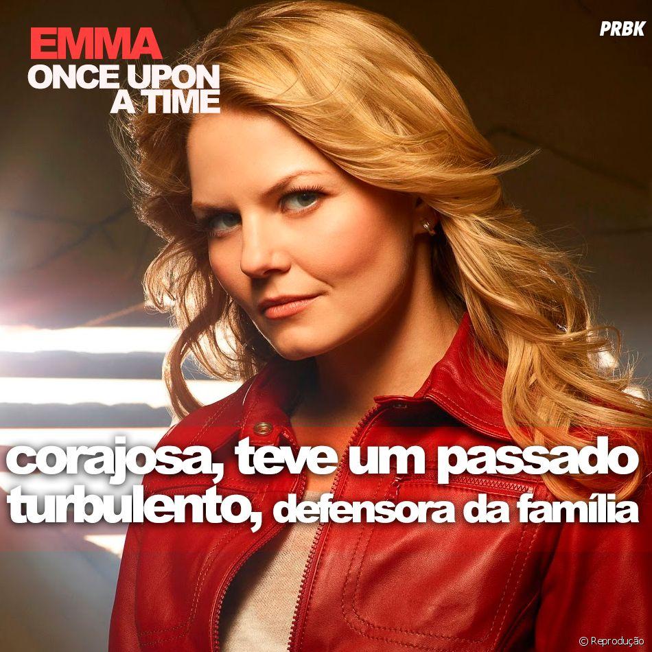 """De """"Once Upon A Time"""": ninguém pode falar que a Emma (Jennifer Morrison) é de fugir dos perigos, né?"""