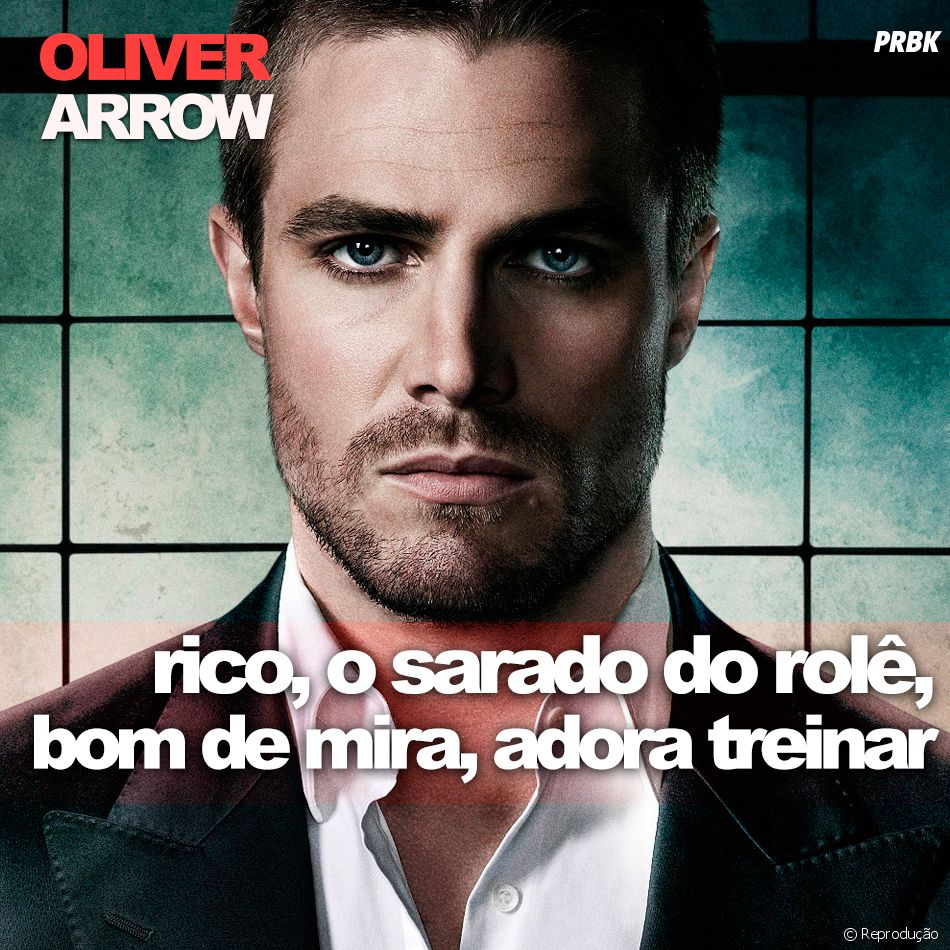 """De """"Arrow"""": e o bonitão do Oliver Queen (Stephen Amell), hein?"""