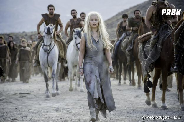 "Emilia Clarke interpreta Daenerys em ""Game of Thrones"""