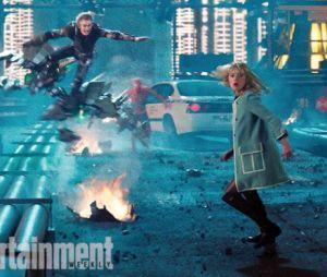 """Duende Verde (Dane DeHaan) e Gwen Stacy (Emma Stone) em cena de """"O Espetacular Homem-Aranha 2"""""""