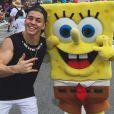 Biel nos Estados Unidos: cantor tirou tempinho para diversão em família