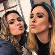 """Do """"BBB16"""": Ana Paula tieta Tatá Werneck nos bastidores de """"Haja Coração"""", da Globo"""