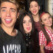 Larissa Manoela e João Guilherme Ávila posam com Luis Mariz e Viih Tube no Instagram