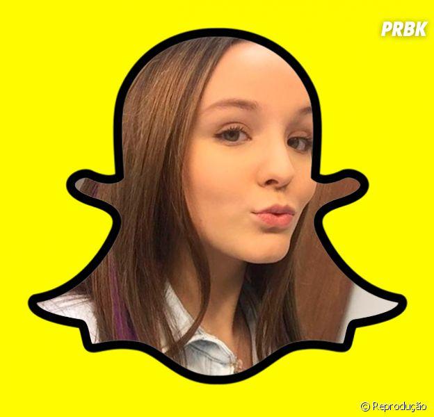 Famosos Brasileiros no Snapchat:Larissa Manoela– larimanoella