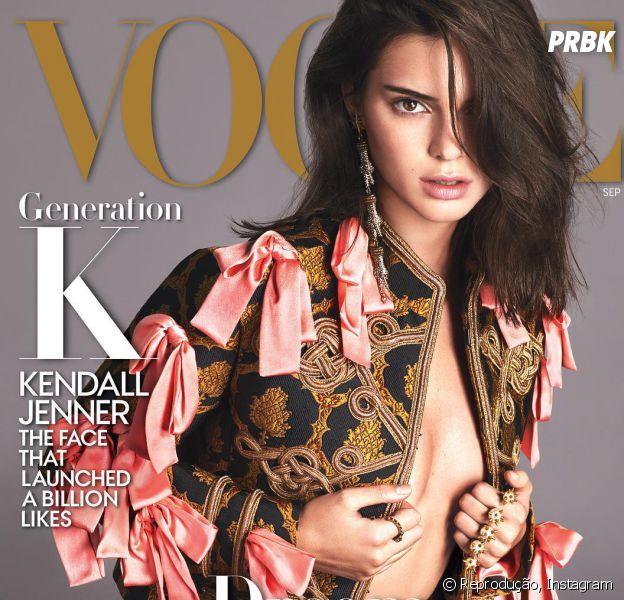 "Kendall Jenner arrasou na capa da revista ""Vogue"""