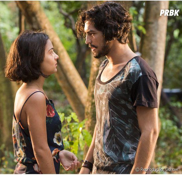 """Novela """"Velho Chico"""":Olívia (Giullia Buscacio) e Miguel (Gabriel Leone) decidem namorar escondido"""
