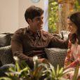 """Em """"Haja Coração"""": Shirlei (Sabrina Petraglia) sempre se mostrou apaixonada por Felipe (Marcos Pitombo)"""
