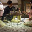 """Novela """"Haja Coração"""":Felipe (Marcos Pitombo) e Shirlei (Sabrina Petraglia) terão noite romântica em Campos do Jordão"""