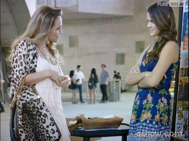 """Na novela """"Em Família"""", Shirley (Vivianne Pasmanter) vai tirar Luiza (Bruna Marquezine) do sério"""