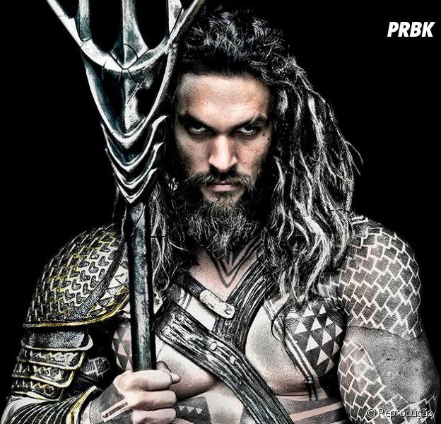 "Filme ""Liga da Justiça"": Jason Momoa (Aquaman) interpreta o Aquaman!"