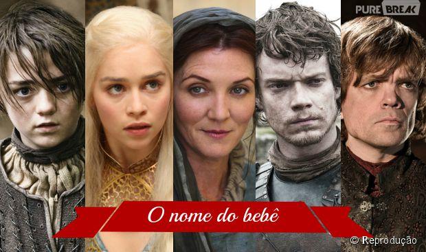 """Famílias batizam seus bebê com o nome dos personagens da série """"Game of Thrones"""""""