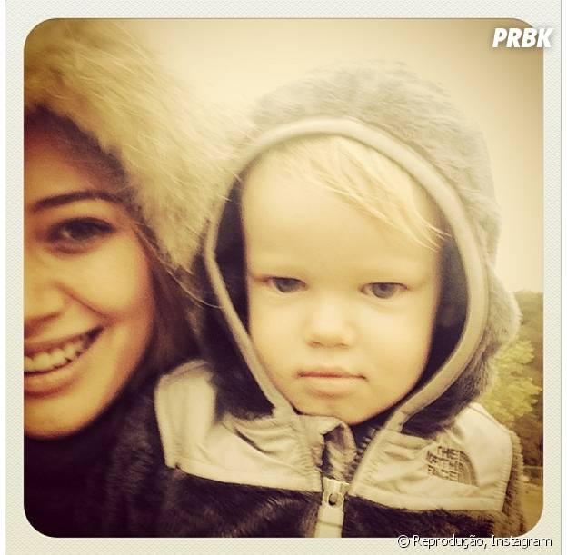 Hilary Duff tem um filho