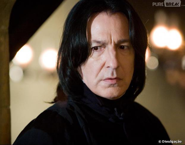 """Severus Snape (Alan Rickman)era o professor mau caráter em """"Harry Potter""""!"""