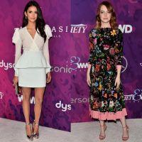 Nina Dobrev e Emma Stone vão a premiação de moda; vote no seu look favorito!
