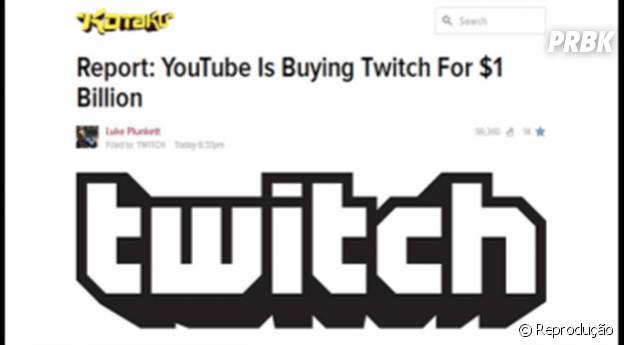 Youtube vai comprar Twitch