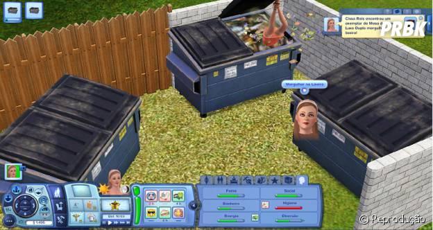 """Vasculhar o lixo por aí é uma das porcarias esquisitas que se pode fazer em """"The Sims"""""""
