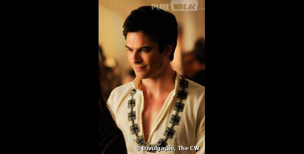 "Damon (Ian Somerhalder)vai se meter em problemas com Silas (Paul Weasley) em ""The Vampire Diaries"""