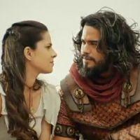 """Novela """"A Terra Prometida"""": Aruna (Thais Melchior) procura Josué e fala de ataque sofrido por Raabe"""