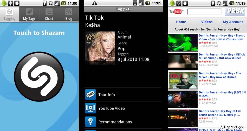 Com app Shazamvocê descobre a música que está tocando e ainda tem link para assistir no Youtube