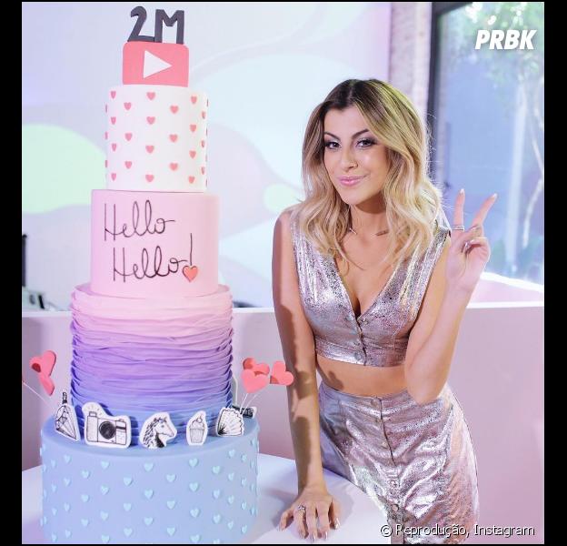 Nah Cardoso revela os melhores momentos da sua festa de 2 milhões de inscritos no Youtube