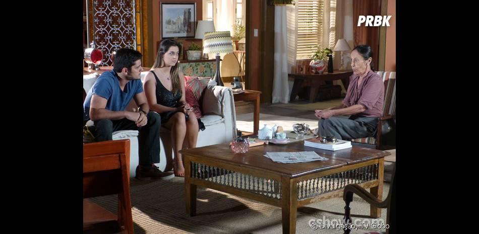 """André (Bruno Gissoni) está investigando junto com Bárbara (Polliana Aleixo) sobre seu passado na novela """"Em Família"""""""