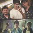 """De """"Eu Fico Loko - O Filme"""": Christian Figueiredo publicou no Instagram uma imagem comparando os amigos da vida real, com os atores que darão vida aos papéis no longa"""