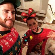 Miley Cyrus e Liam Hemsworth provam que são o casal mais fofo das festas de fim de ano!