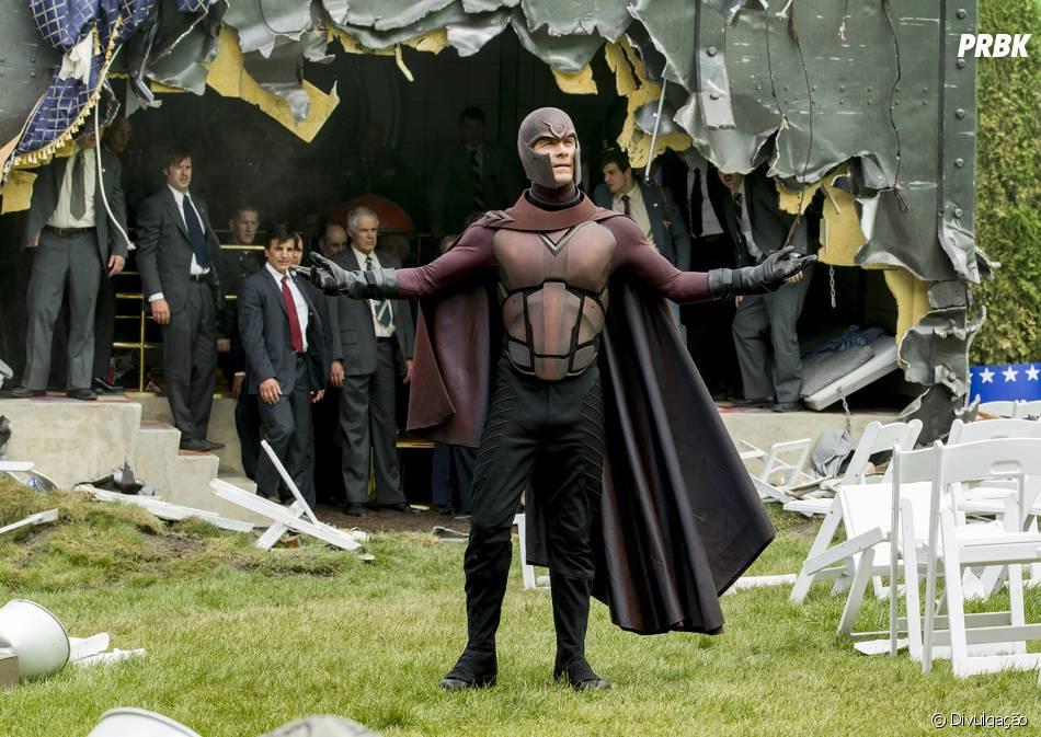 """Michael Fassbender como Magneto em cena de """"X-Men: Dias de um Futuro Esquecido"""""""