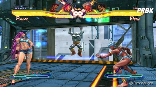 """Poison e Elena, algumas dos cinco novos personagens da atualização """"Ultra Street Fighter IV"""""""