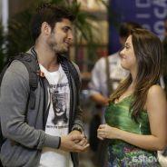 """Na novela """"Em Família"""": André beija Bárbara, mas se afasta ao ver Luiza"""