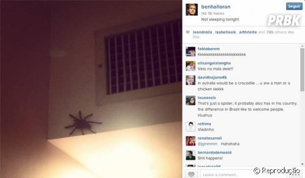 O atleta da Seleção Australiana dormiu com uma aranha