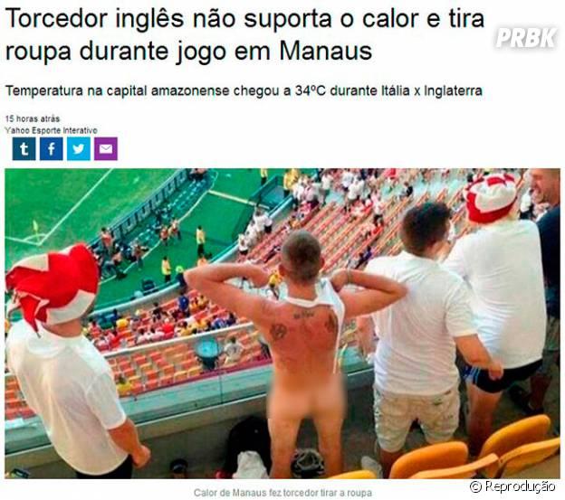 Inglês fica nu na Arena Amazônia