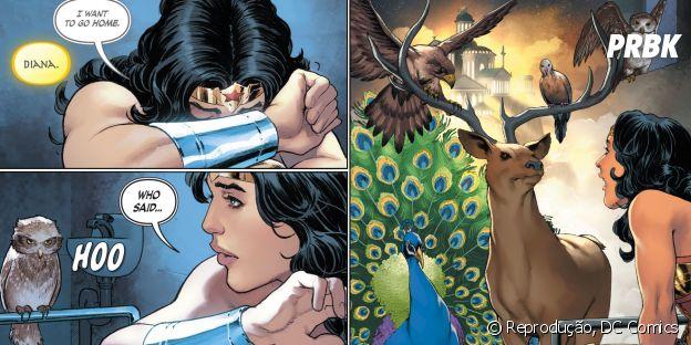 """Será que o o poder com animais de Diana aparecerá em """"Mulher Maravilha""""?"""
