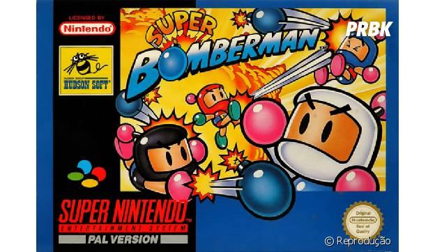 "Exploda tudo no clássico game ""Bomberman"""