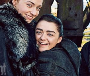 "De ""Game of Thrones"":Sophie Turner eMaisie Williams ficaram muito amigas na vida real"