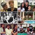 No Instagram, várias fotos do churrasco na casa de Neymar foram postadas