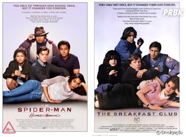 """De """"Homem-Aranha: De Volta ao Lar"""": o poster inspirado em """"Clube dos Cinco"""" já virou um clássico, né?"""