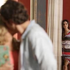 """Reta final de """"Em Família"""": Luiza pega Laerte dando um beijo em Livia"""